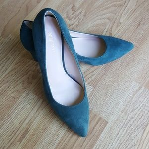 Forrest green suede shoes Gorgeous! Nine West 5.5